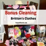 Bonus Cleaning – Daughter's Clothes