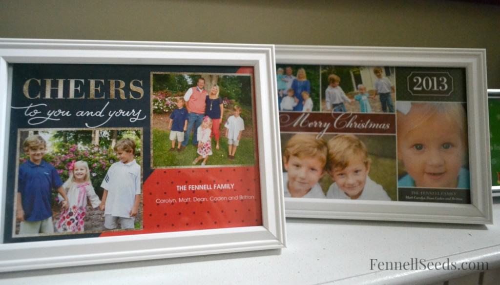 How to use your Christmas Cards to decorate