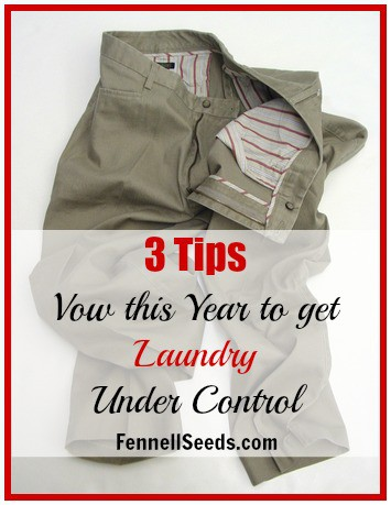 Vow to Get Laundry Under Control