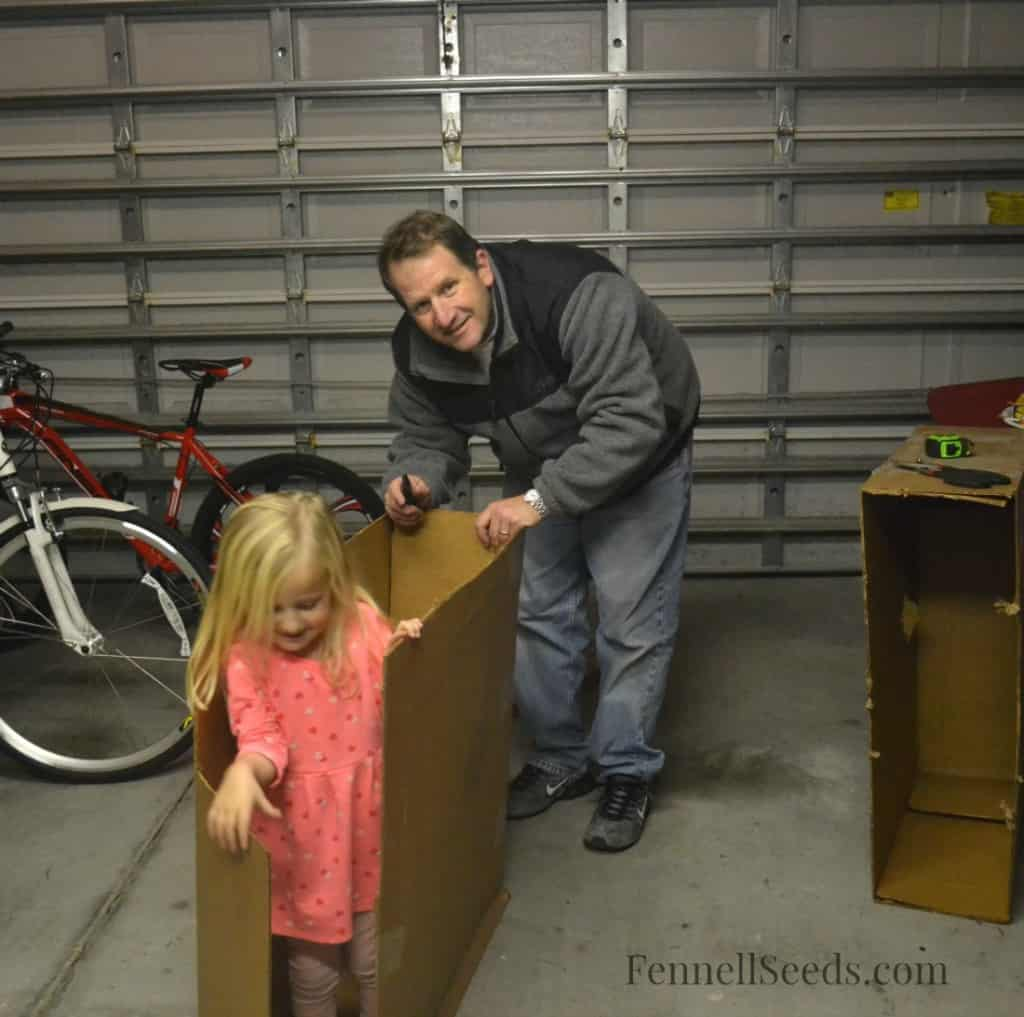 Daddy Cardboard Box Stable