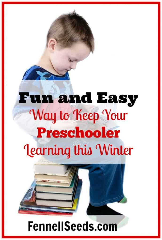 Fun and Easy Way to Keep Your Preschooler Learning this Winter