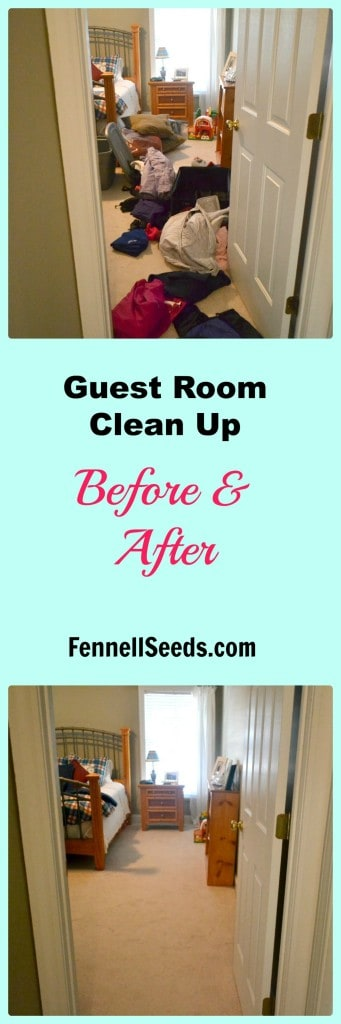 Guest Room Clean Up Before & After
