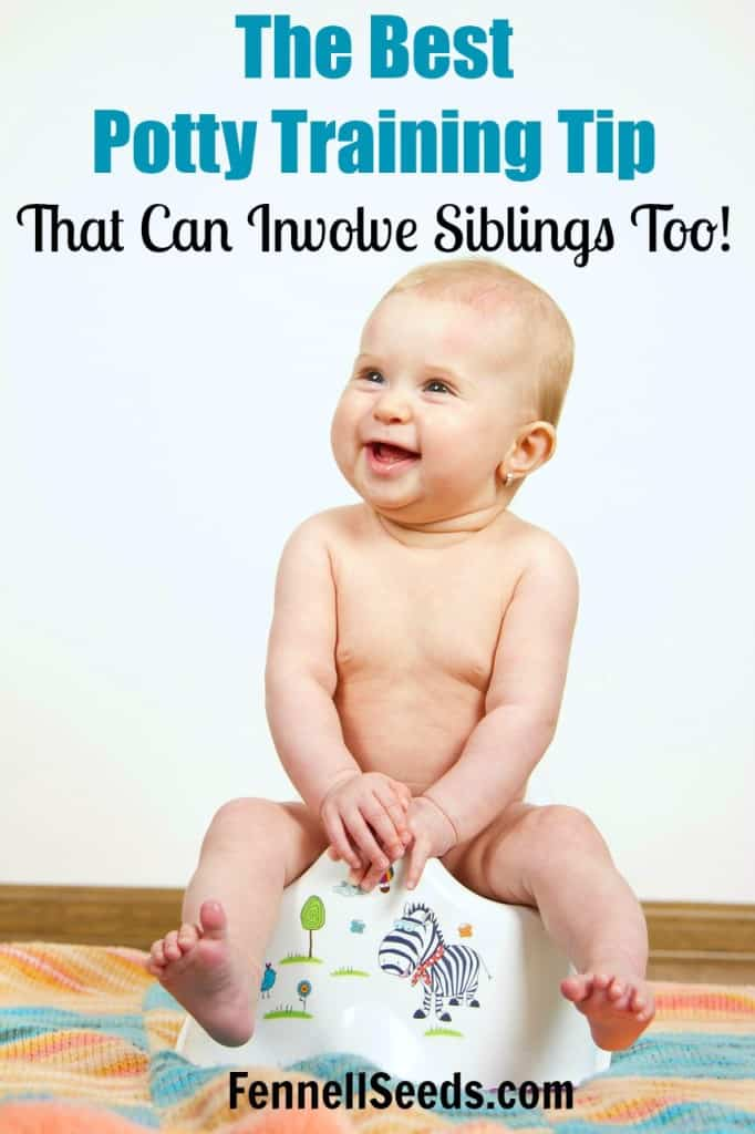 The Best Potty Training Tip that Siblings can get Involved Too! I came up with this when I had twin boys and wanted everyone to be happy when either one of them had success.