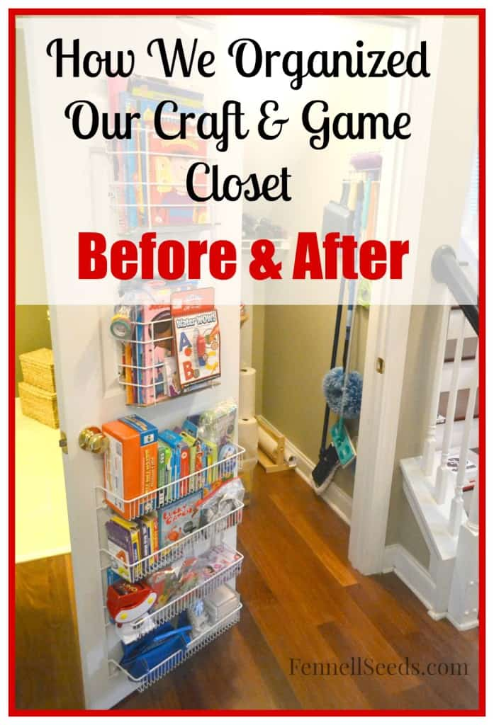 Craft Closet Organized - Before and After Photos - Fennell Seeds