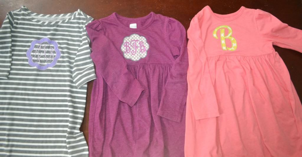 I love finding inexpensive dresses and making them unique. Here are a few that I have found at Old Navy and personalized them for my daughter.