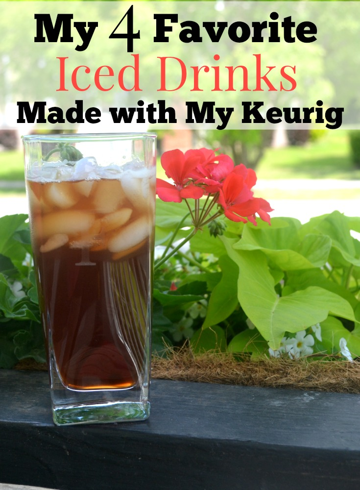 Keurig | Beverages | caffeine free drink | My 4 favorite iced drinks made with my Keurig. Now that it is summer I wanted to make some iced drinks in my Keurig and here are my favorites.