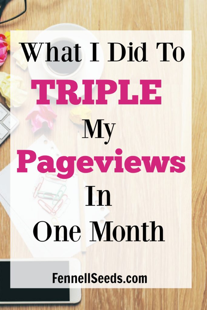In 1 Month I tripled my page views. Here are resources I used and steps I took to grow. I want to share my small tips that helped my pageviews finally take a big leap.