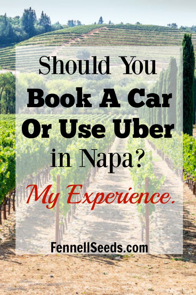 Should You Book a Car or Use Uber in Napa? We did one day of each in Napa. This was my biggest question when we were planning our trip to visit Napa. Do we have to hire a car tour company to drive us around? Is it worth it? Are there many Ubers in Napa? How long would we have to wait to get a ride? Here are my experiences with each way of getting around Napa.