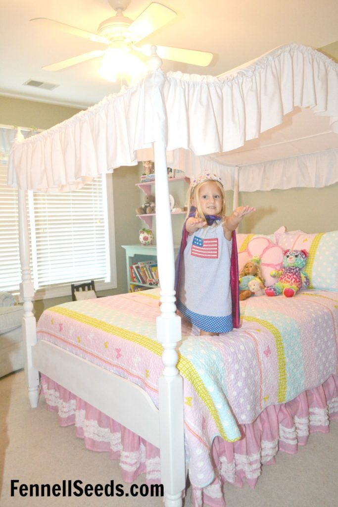 Little girls bedroom. Everything was ordered online. I love that it incorporates pink and blue in the girls bedroom.