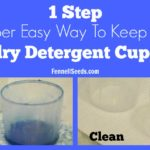 1 Step Super Easy Way to Keep the Laundry Detergent Cup Clean