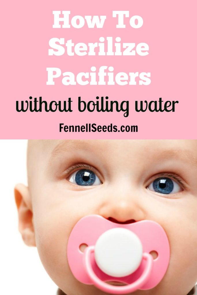 How to Sterilize Pacifiers   Clean Pacifiers   Pacifier   Sterilize a Pacifier   These tips to clean a pacifier without boiling water are perfect for moms who are on-the-go.