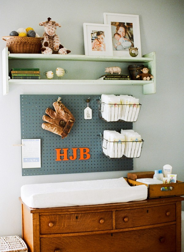 Changing Table | Organized Nursery | Diaper Changing Station | Organized Diapers | Diaper Changing Table