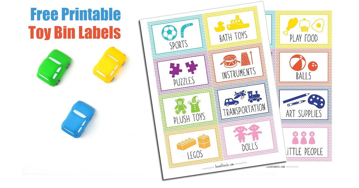 Printable Toy Bin Labels That Are Cute And Free