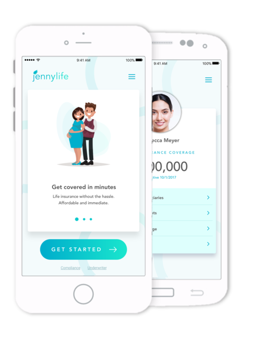 Jenny Life makes it super simple for moms to get life insurance with no health appointments necessary.