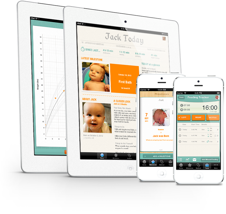 Baby Tracker app | Sprout App can keep track of all of your baby's information.