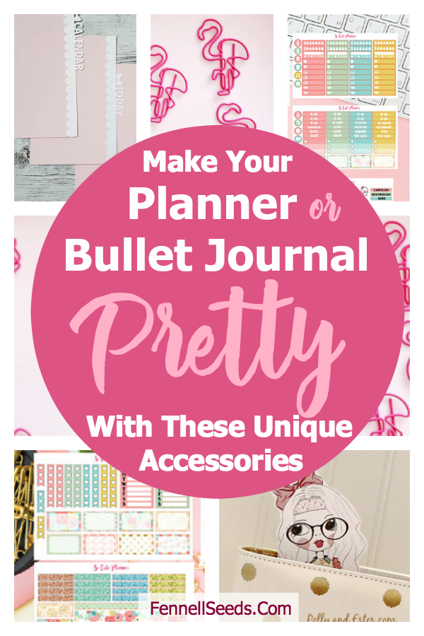 Make your planner or bullet journal pretty even if you can't draw with these planner accessories. #planner #bulletjournal