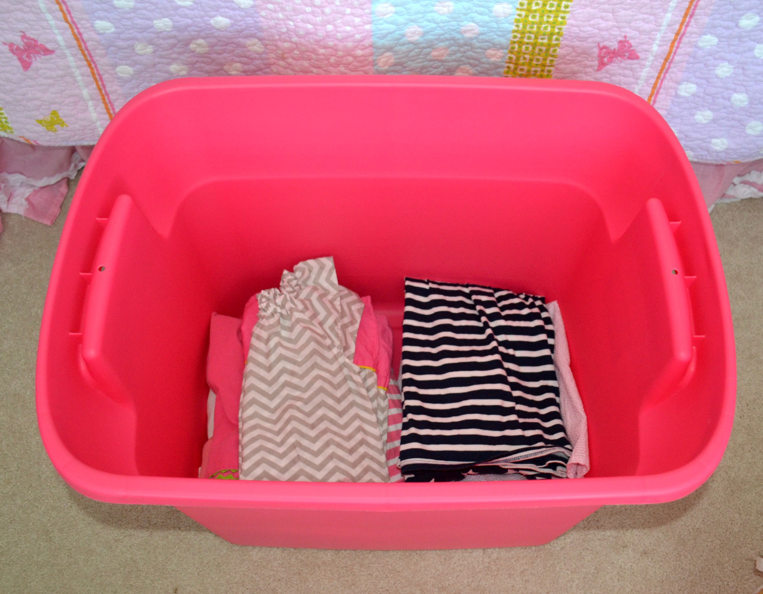 Duck Pack & Track can help organize moving or even storing hand-me-downs.