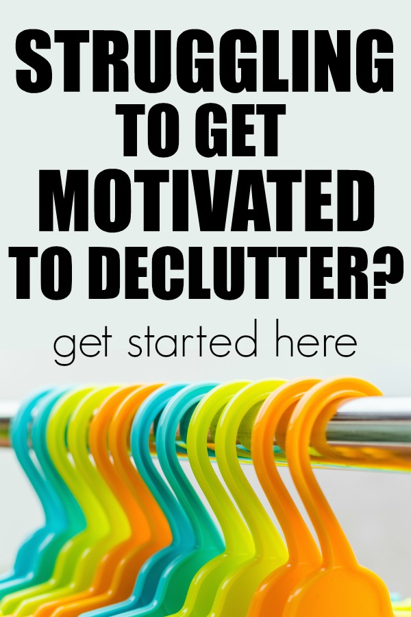 How to get started decluttering.   motivated to declutter   getting organized   organized home
