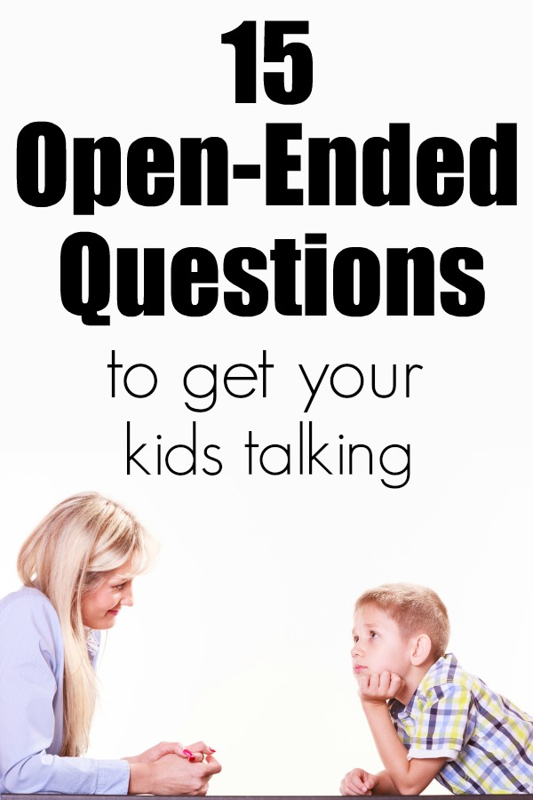 15 Open Ended Questions For Kids to Get Them Talking | Questions for Kids | Open Ended Questions | Questions for After School | Get Kids Talking