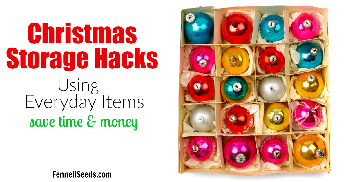 Everyday items that help you with Christmas storage. These Christmas storage ideas and hacks will blow your mind and help make decorating easier. | holiday decor organization | holiday storage | Christmas storage ideas | Christmas Organization Hacks