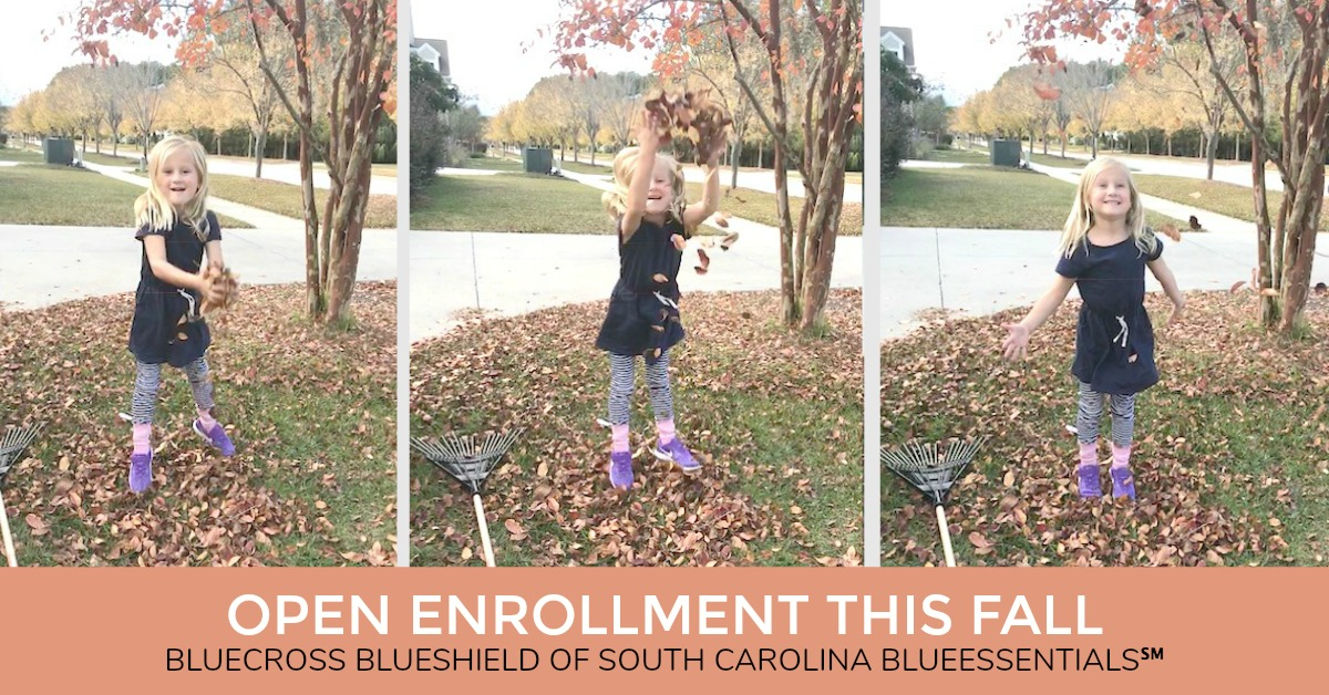Getting ready for fall Open Enrollment in the BlueCross BlueShield of South Carolin Blue Essentials program. #AD Get affordable health care #BlueEssentials