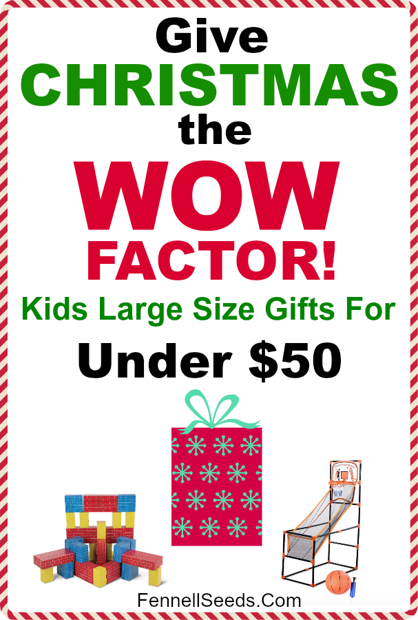 Amazing gift guide to get the wow factor for Christmas morning. | Christmas gift ideas for kids | large size gifts | Gift guide for kids #giftguide #giftsforkids