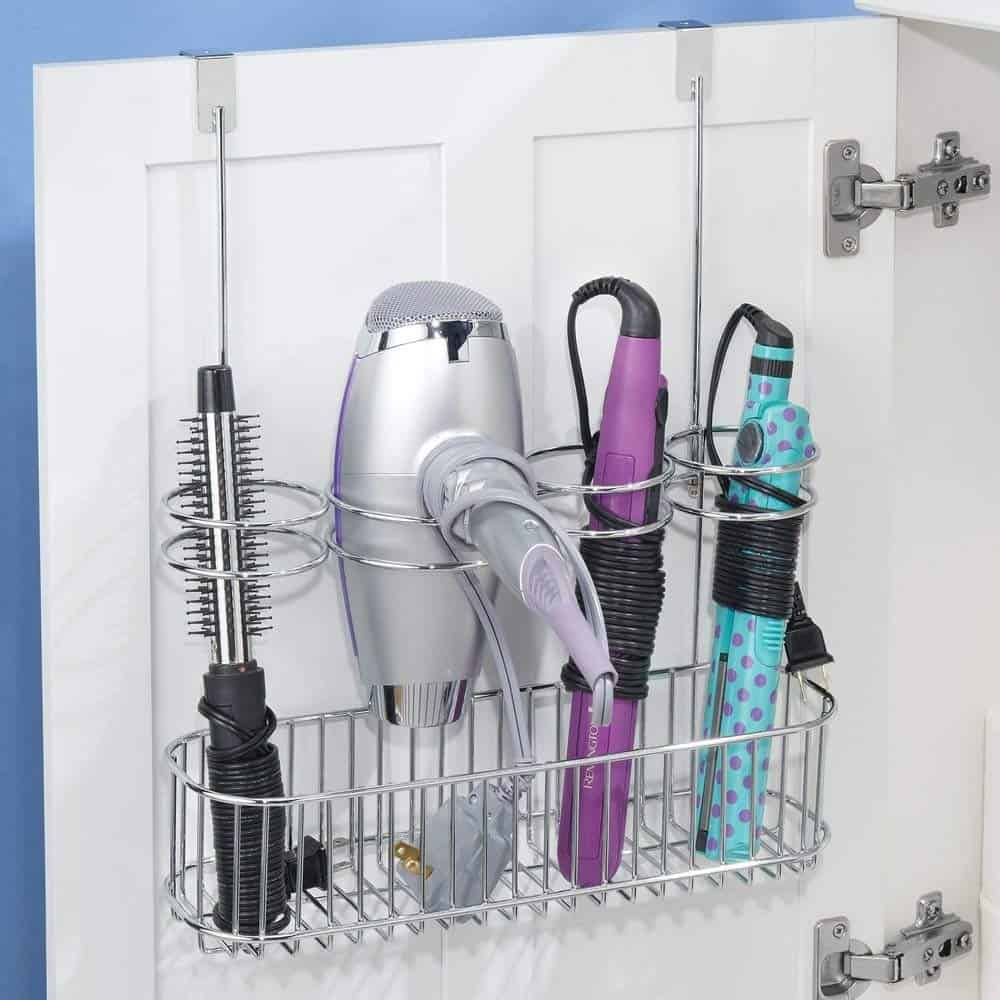 Bathroom Storage Hacks for your hairdryer to help make your mornings easier.