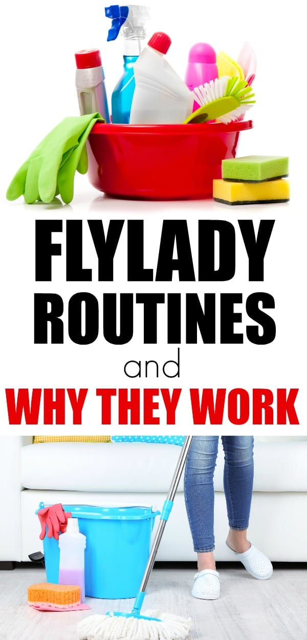 How to use FlyLady to get your house under control. Cleaning routines and declutter in small quick daily tasks. FlyLady routines work so you aren't overwhelmed.