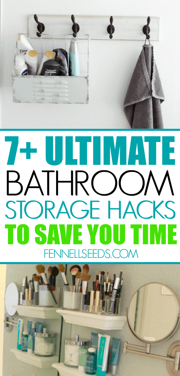 Bathroom storage hacks to save you time and energy. How to organize the bathroom and keep things neat. #bathroomorganization #organizing #bathroomstorage