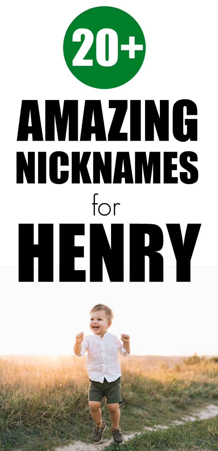 30+ amazing nicknames for Henry that are perfect for your little boy.