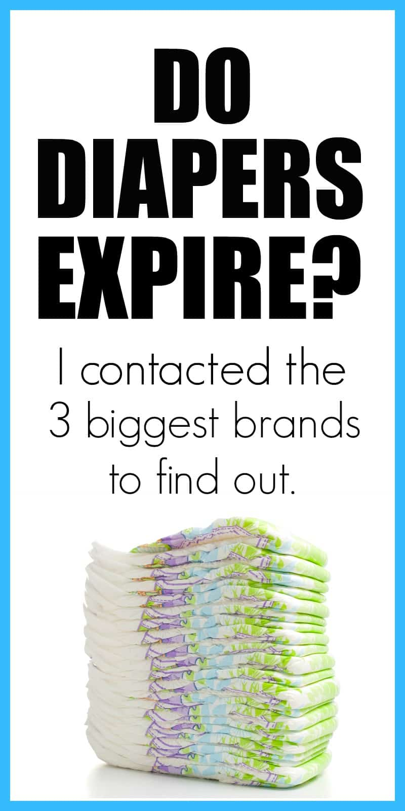 Do diapers expire? Find out if diapers have expirations dates. How long do diapers last?