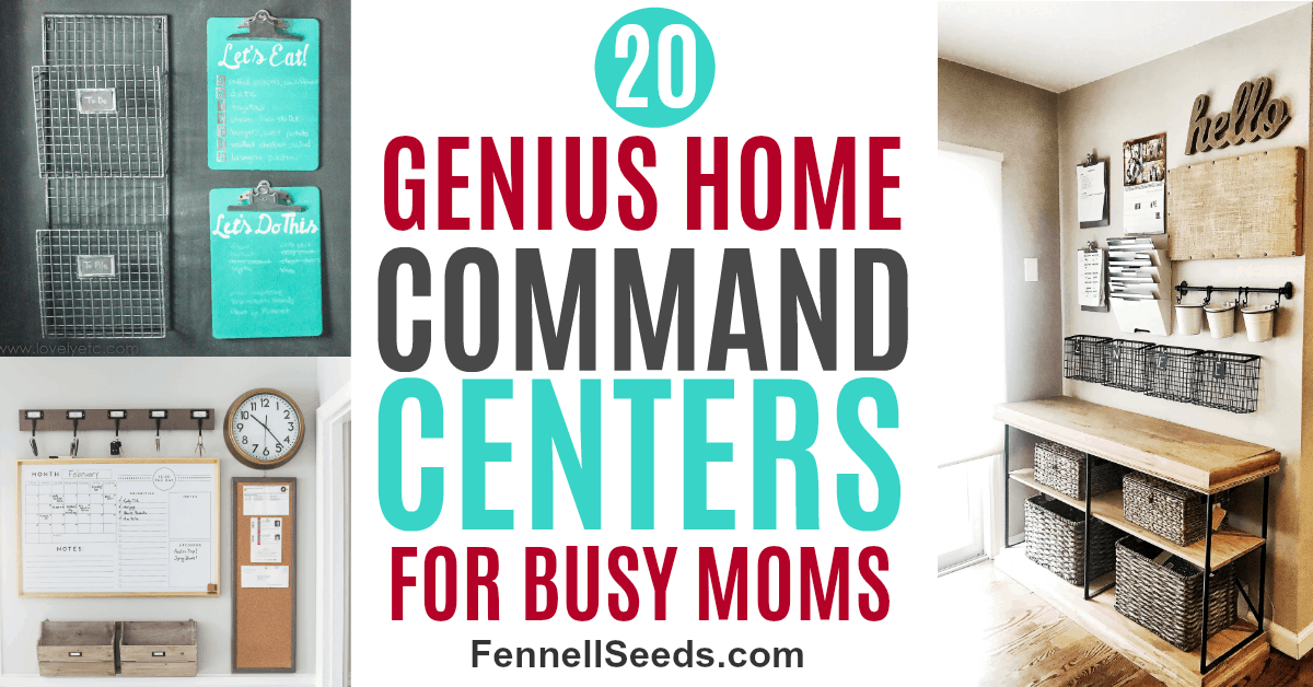 Check out these home command centers to help keep you and your family organized.