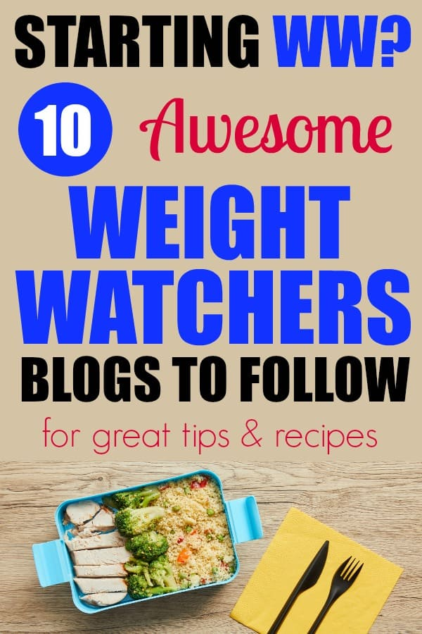 When starting WW (Weight Watchers) it is a great idea to learn from others. Here are 10 WW Weight Watchers blogs to follow for great tips and recipes. #ww #weightwatchers