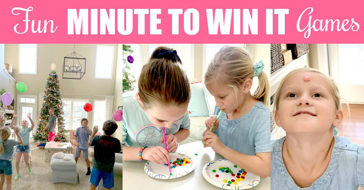 Fun Minute to Win It games for kids that are easy to set up.