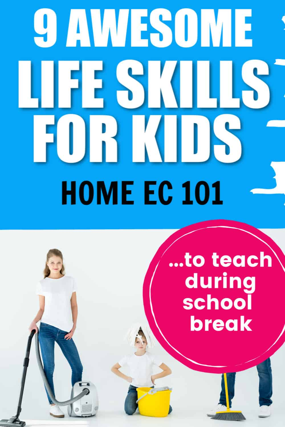 Life Skills for kids. We are trying to teach kids to be productive members of society so we need to make sure to teach these home ec skills whenever we can. Life skills for kids.