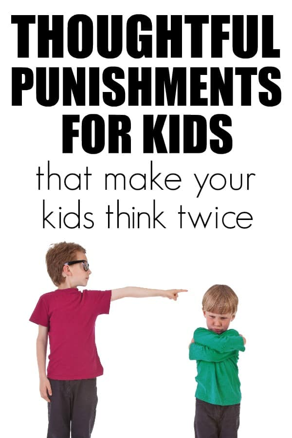 Thoughtful punishments for kids to help them feel in control and not likely to repeat.