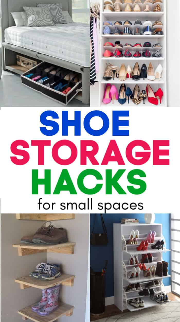 Shoe storage for small spaces. Cool ways to store shoes in an apartment.